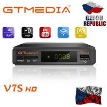 Gtmedia-receptor satélite V7S HD 1080P, televisión FTA en DVB-S2, con WIFI USB, compatible con YouTube, cline Europa por 2 años desde Freesat v7