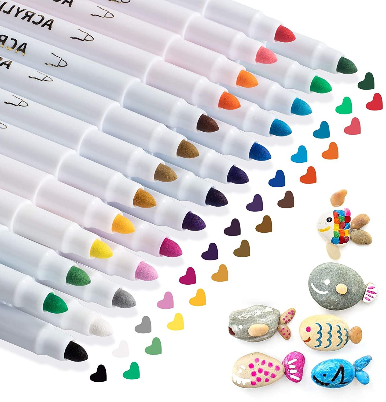 21-25-penne-per-pittura-acrilica-per-kit-di-pittura-rock-pennarelli-per-vetro-legno-plastica-tela-ceramica-pietra-tessuto-tazze-regalo