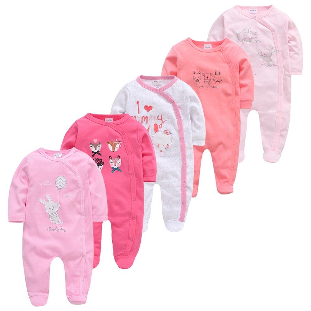 l s bitensky awake you sleepers Newborn Girl Boy 5pcs Sleepers Baby Pyjamas Cotton Breathable Soft ropa bebe Newborn Sleepers Baby Pjiamas