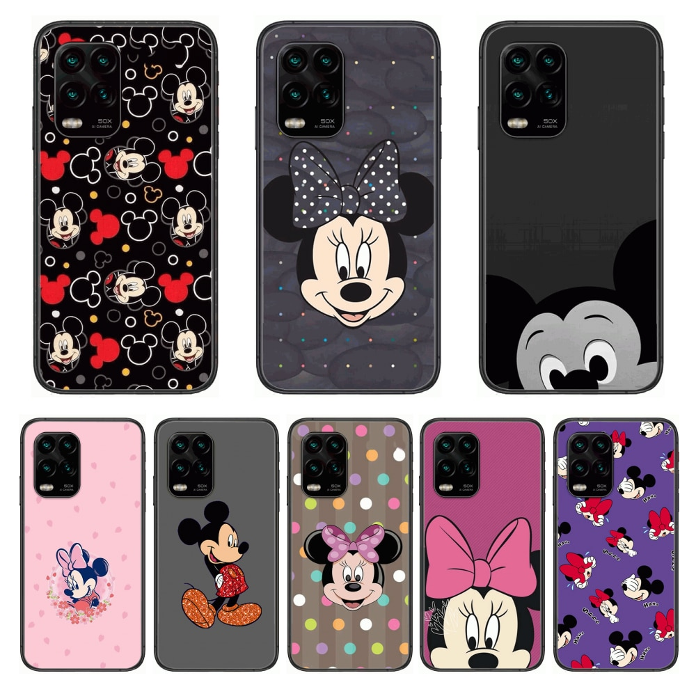 mickey Phone Case For xiaomi Redmi Note 9S 8 7 6 5 A Pro T Anime Black Cover Silicone Back Pretty se