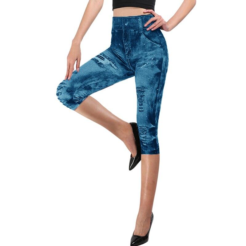 Jodimitty כושר 3/4 ליידי פו ז אן מכנסיים נשים גבוהה מותן קאפרי סופר אלסטי Slim Jeggings בתוספת גודל 3XL קצר חותלות 2020