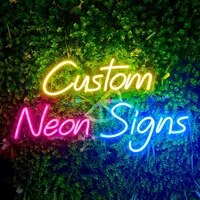 manufacturer personalized flexible advertising lighting custom led light logo neon sign