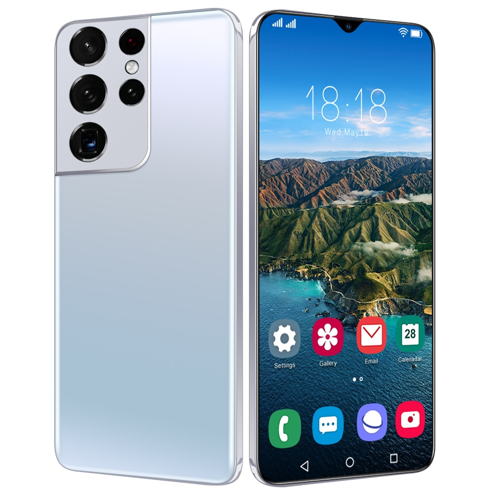 2021 Global Version S21 Ultra 6.7 Inch 10 Core Smartphone 1440*3200 12GB+512GB 32MP+50MP 6800Amh Andriod 11 Cell Phone