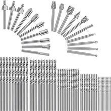 70 pièces 1/8 pouces HSS menuiserie routeur Bit rotatif jeu de fraises et forets hélicoïdaux pour bricolage travail du bois forage gravure outil