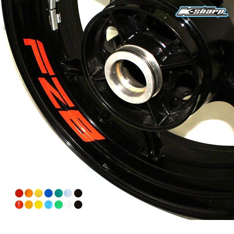 Para YAMAHA FZ8 personalizado Borde Interior Declas rueda reflectante pegatinas rayas