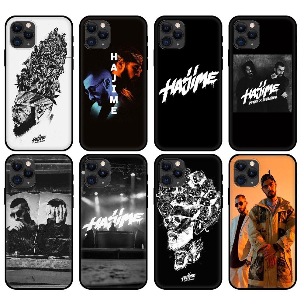 Capa tpu preta para iphone 5 5S se 2020 6s 7 8 plus x 10 xr xs 11 12 mini pro max voltar hajime miyagi andy panda acessórios