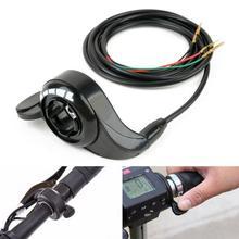 Acelerador Control de velocidad bicicleta eléctrica ABS Metal pulgar accesorios acelerador agarre alambre práctico negro Scooter reemplazo E2I1
