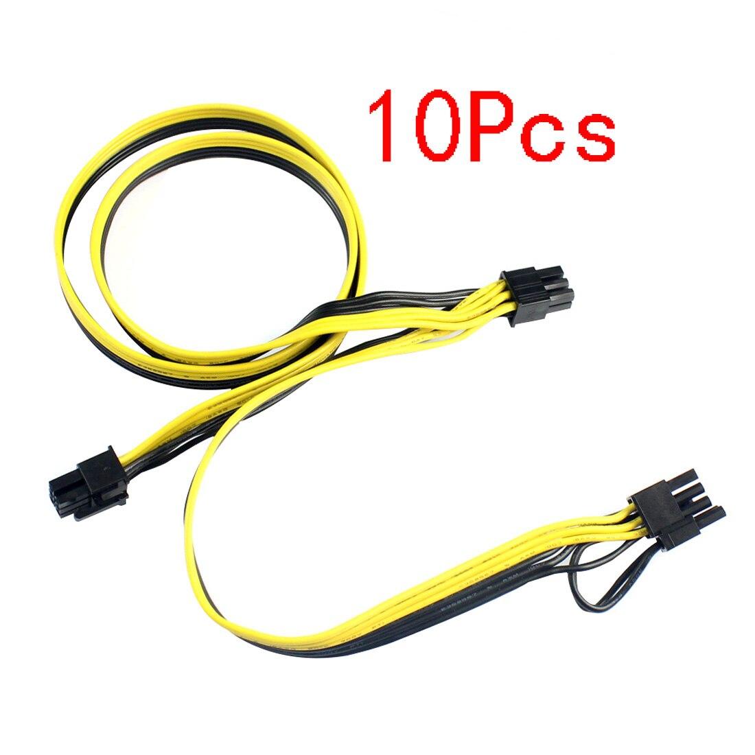 10 قطعة وحدات PSU كابلات امدادات الطاقة PCI e 6pin إلى 8 (6 + 2) دبوس 6Pin PCI Express كابل الطاقة الداخلية الفاصل الشريط