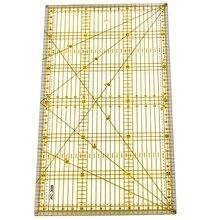 Schneiden Herrscher Multi-Zweck Patchwork Tuch Quilt Herrscher Diy Kleid Design Zeichnung Schneiden Handwerk Lineal Nähen Matte Kits 30x15Cm