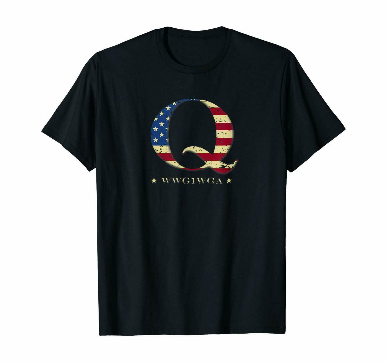 Estampa de bandeira dos eua de qanon wwg1wga q anon
