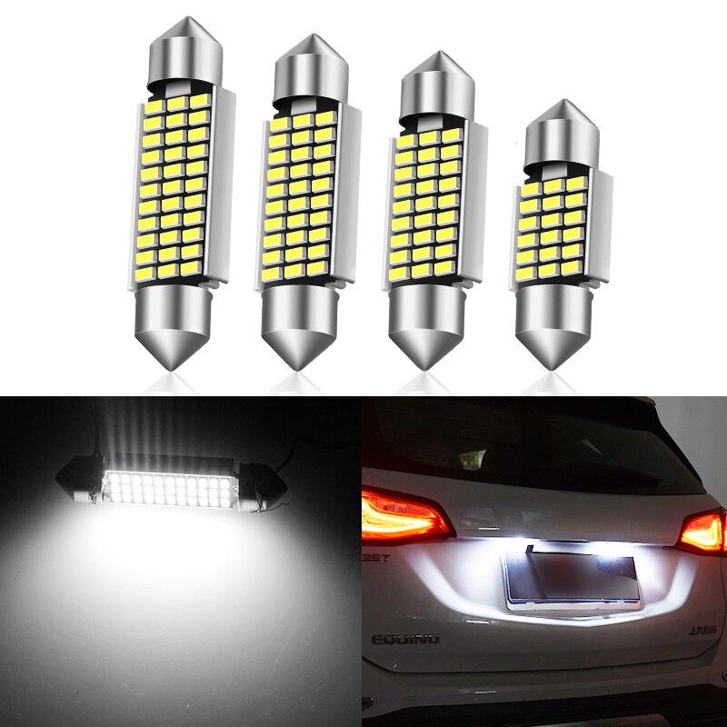 1 шт. обоюдоострой светодиодный 31/36/39/41 мм автомобиля Универсальный потолочный светильник светодиодный автомобиль для чтения светильник осветительный прибор двойная точка-точка 3014 автомобильной лампы
