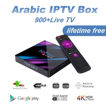 H96 MAX arabe IPTV Box à vie gratuit 4G + 32G avec 860 + TV en direct Fr/afrique/somalien/suédois Android 9.0 arabe IPTV Box