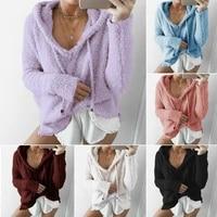 women knitted mohair sweater pullover cardigan sweatshirts knitwear jumper gift