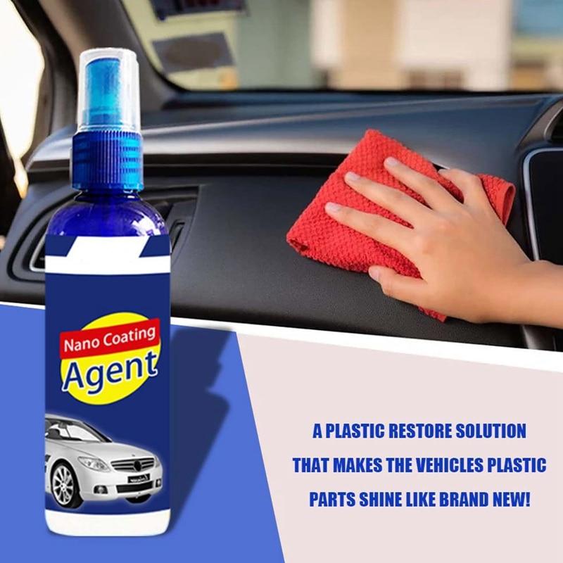 100ml Car Nano Coating Agent Moisture-proof Anti Scratch Hydrophobic Polish Coating Agent Car Coating Spray Wax Cleaning Agent