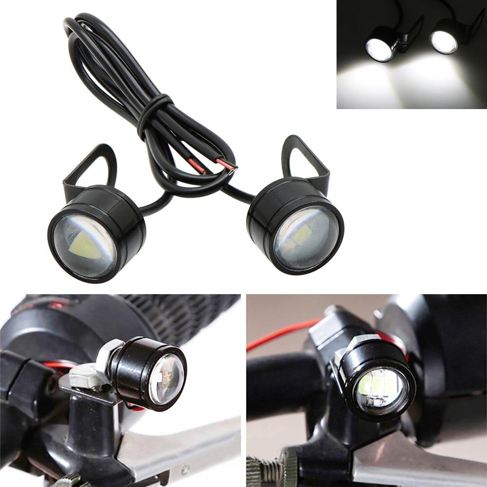 Nuoxintr 1Pair Black  Universal Motorcycle LED Mini Turn Signal Eagle Eye Shape Turn Indicators G8TE