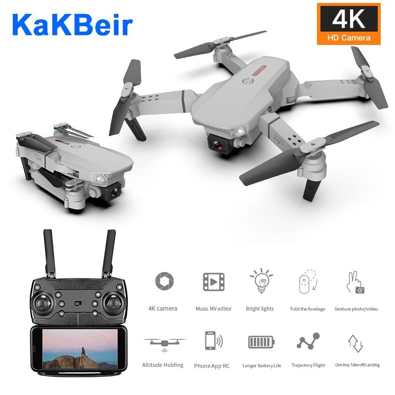 RC Drone 4k HD Cámara Wifi fpv E88 Quadcopter plegable conmutable largo tiempo de altura fija Selfie profesional dron juguetes para niños