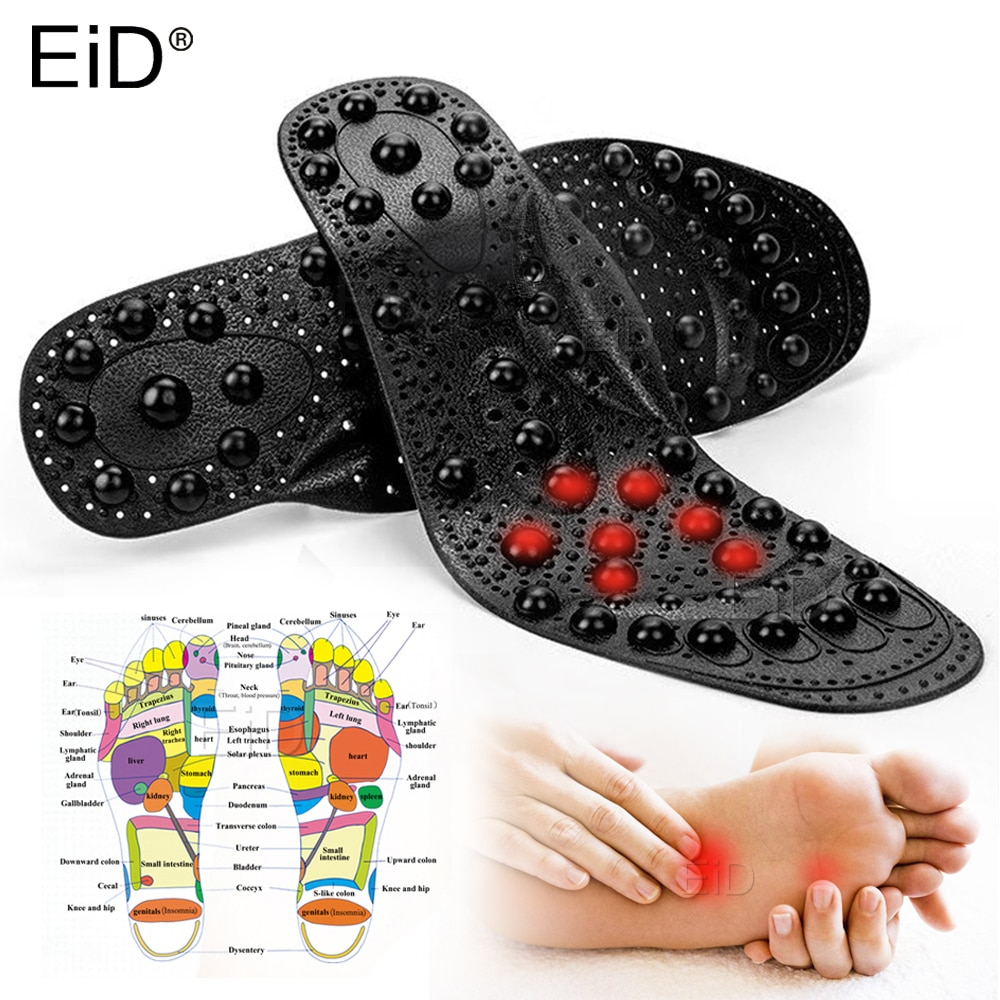 EiD 68 magnet Magnetic Therapy Silicone Insoles Transparent Massage Foot Weight Loss Slimming Insole Health Care Shoe Pad Sole orthopedic premium magnetic therapy magnet health care foot massage insoles unisex shoe comfort pads magnet insoles