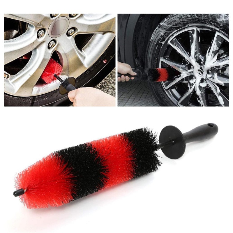 Lengthen Car Clean Accessories 45cm Car Interior Wash Brush Car Truck Motor Engine Grille Wheel Wash Brush Car Cleaning Tool