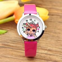 Relojes originales LOL Surprise poupées de cuarzo con correa de cuero de Clcok de dibujos animados para, relojes de pulsera