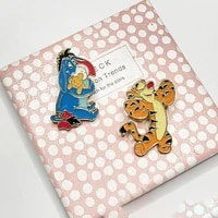 disney cartoon pooh brooch cute cartoon tigger alloy badge men women fashion accessories pin