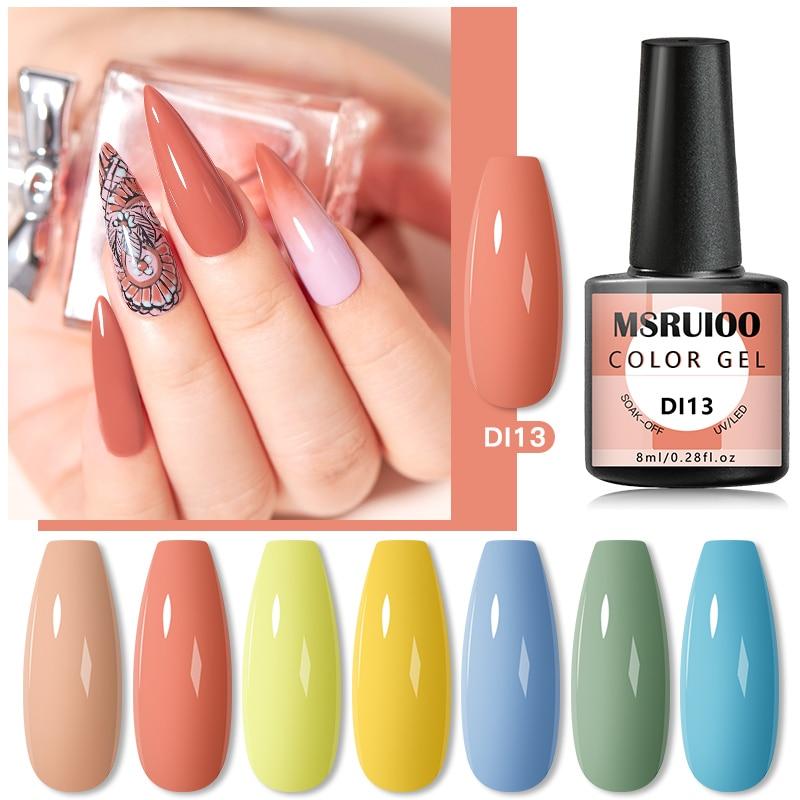 MSRUIOO 8ml Color UV Gel Nail Polish Lak Art  Semi Permanent Soak Off UV Gel Varnish Nail Art Polish For Manicure UV Vernis недорого