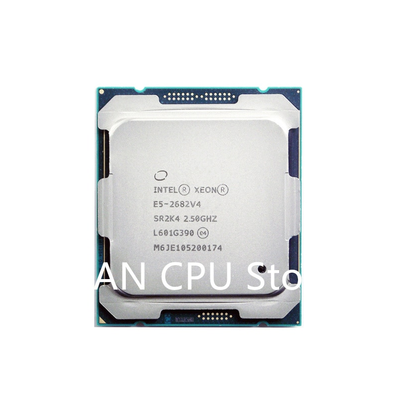 Get Free shipping E5 2682v4 Original Intel Xeon E5-2682v4 2.50GHZ 16-Core 40M Cache E5 2682 V4 DDR4 2400MHz FCLGA2011-3 TPD 120W