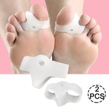 1 paire 2 trous Silicone orteil Gel Correction Hallux Valgus soulagement douleur gros orteil Pinkie pouce séparateur pieds soin garde pour un usage quotidien