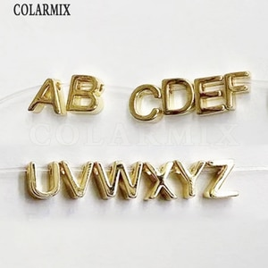 26 pieces Tiny letter pendants 26 letters golden jewelry charm pendants Accessories for jewelry making tiny charm9649