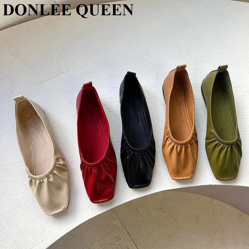 casual women shoes casual slip on flats women shoes new flock pointed toe butterfly knot ballet dancing shoes mujer zapatos w138 Women Flats Shoes Square Toe Office Lady Flats Ballet Shoes Women Casual Loafers Fashion Pleated Shallow Ballerina zapatos mujer
