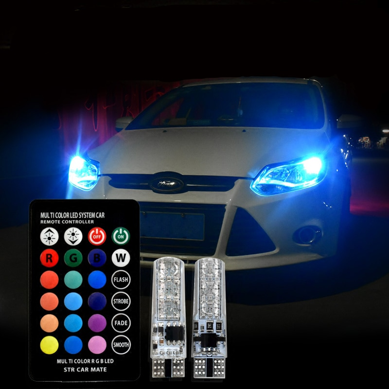 T10 W5W bombilla Led 194 168 RGB luces de estacionamiento multicolor para Skoda Superb Octavia A7 A5 2 Fabia Rapid Yeti