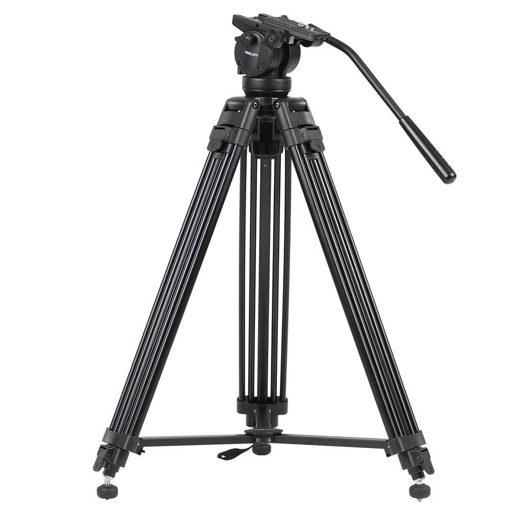 Kingjoy VT-2500 profesional mg-al Aleación de vídeo foto trípode Kit Pan Fluid Ball Head para cámara DSLR Video Recorder DV