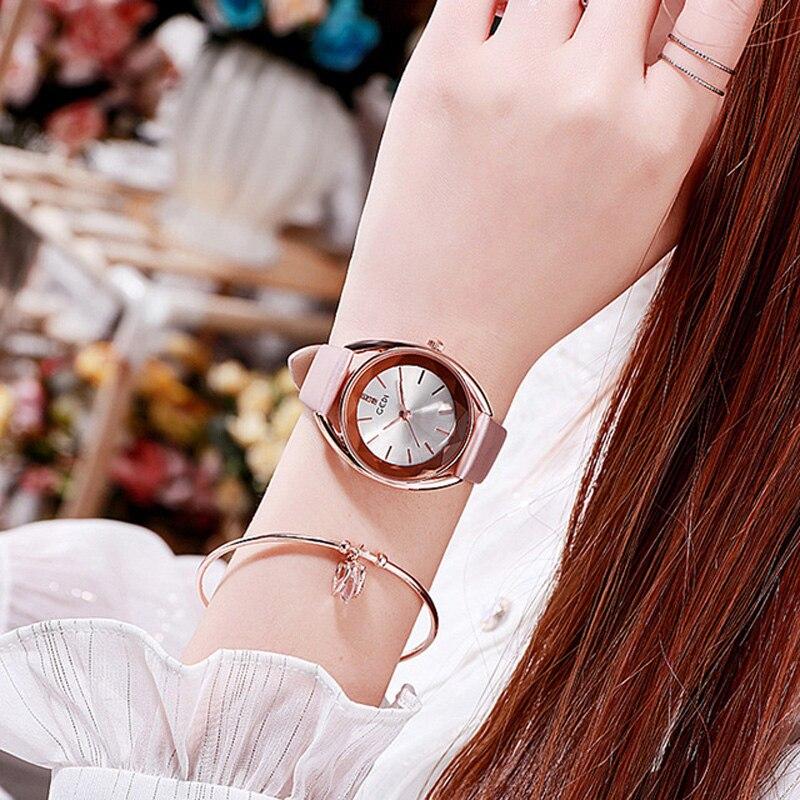 YUNAO Explosive Ladies Watch Belt Waterproof Fashion Simple Temperament Women's Watch 2021 Beautiful New Product Quartz Watch enlarge