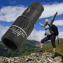 Super Alta Potência 16X52 BAK4 Telescópio Monocular de Visão Noturna Portátil HD OPTICS Low light night vision telescópio бенокль # gh