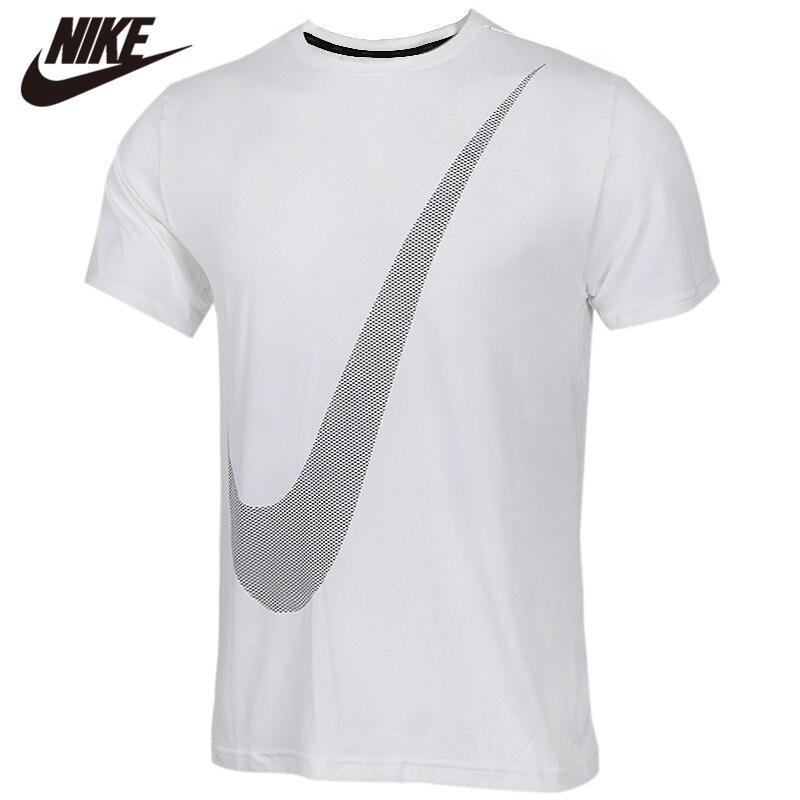 Original NIKE AS M NK BRT TOP SS HPR DRY LOG T-Shirt Black Shirts Short Sleeve
