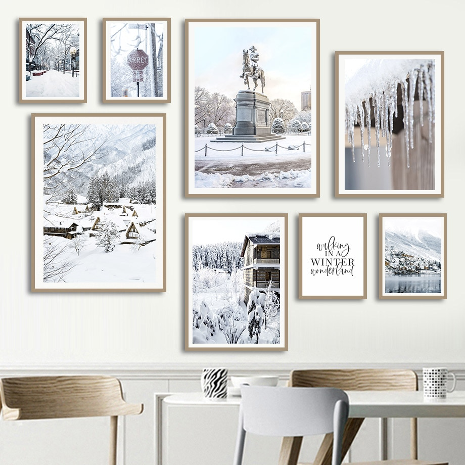 dorothy garlock on tall pine lake Snow Mountain Lake Pine Forest House Reed Wall Art Canvas Painting Nordic Posters And Prints Wall Pictures For Living Room Decor