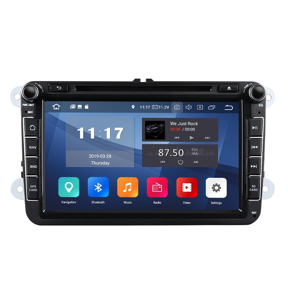 """8 """"Android 9.0 podwójne Din 2G + 32G samochodowy GPS Stereo jednostka główna dla Volkswagen/SEAT /SKODA błotnik wsparcie systemu Bluetooth 5.0 4G WiFi"""