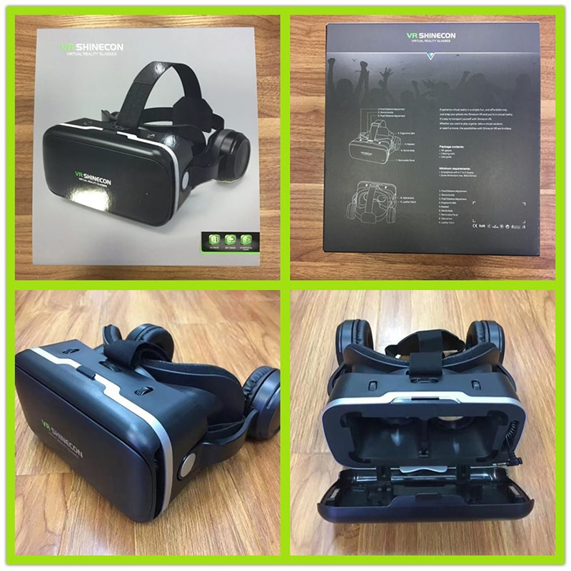VR Virtual Reality 3D Glasses vr box 3D Goggles Headset Helmet smart glasses For iPhone Android Smart phone Stereo enlarge