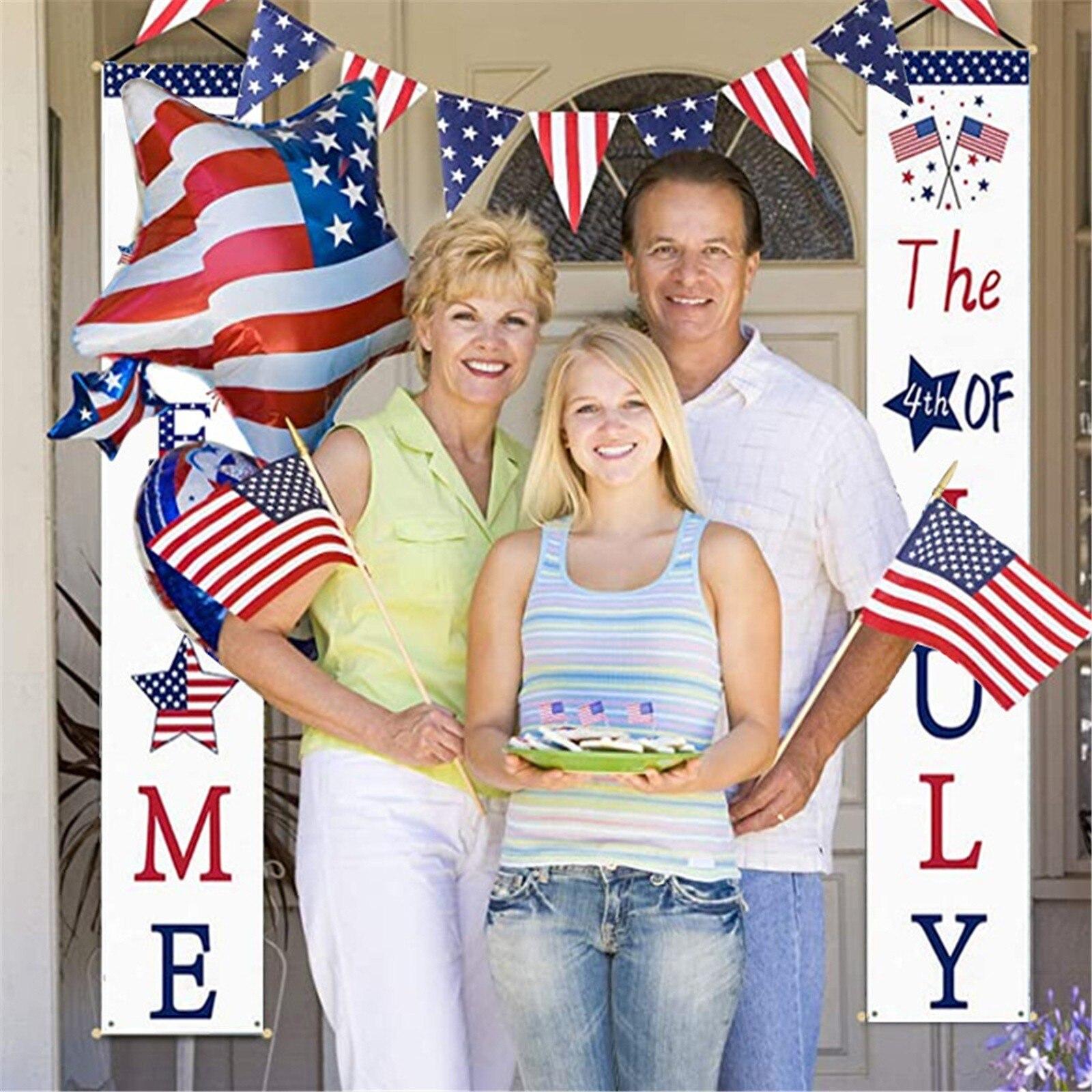 Decoración Patriótica para porche, cartel de estrellas y rayas para fiesta, regalo...