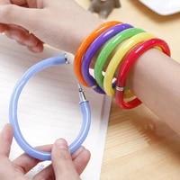 new design deformable flexible pen cute soft plastic bangle bracelet ballpoint pens stationery pen school office supplies