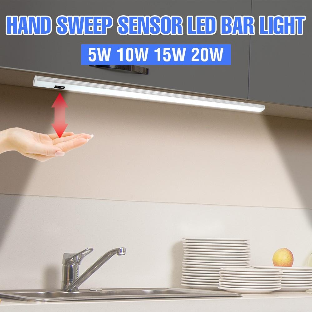 UVC светодиодный настенный светильник USB под шкафом, светильник, Светодиодная лампа 5 В, светильник 20/30/40/50 см, PIR датчик движения, лампа для шка...