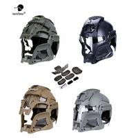 2019Tactical Military Ballistic Helmet Side Warrior Airsoft PC Lens Tactical Helmet Full-Covered Helmets Accessore Shrouder
