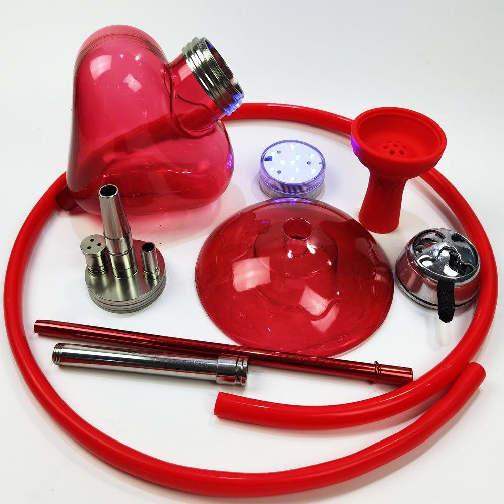 Arabian Hookah Full set of Shisha with LED light Fashion Heart-shaped Hookah  Single Hose Hookah Bowl Nargi Accessories enlarge