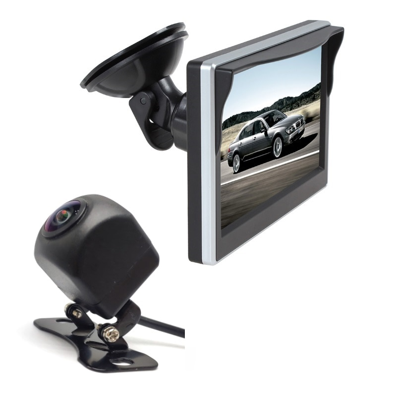 Car Monitor 5 Inch 800*480 Screen 2 Way Video Input Car monitor for backup camera , Vehicle Rear View Camera, front camera