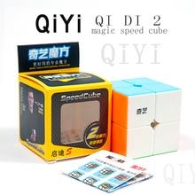 Original QiYi Qidi S 2x2 magic speed cube Stickerless black Competition puzzle cubes educational toys