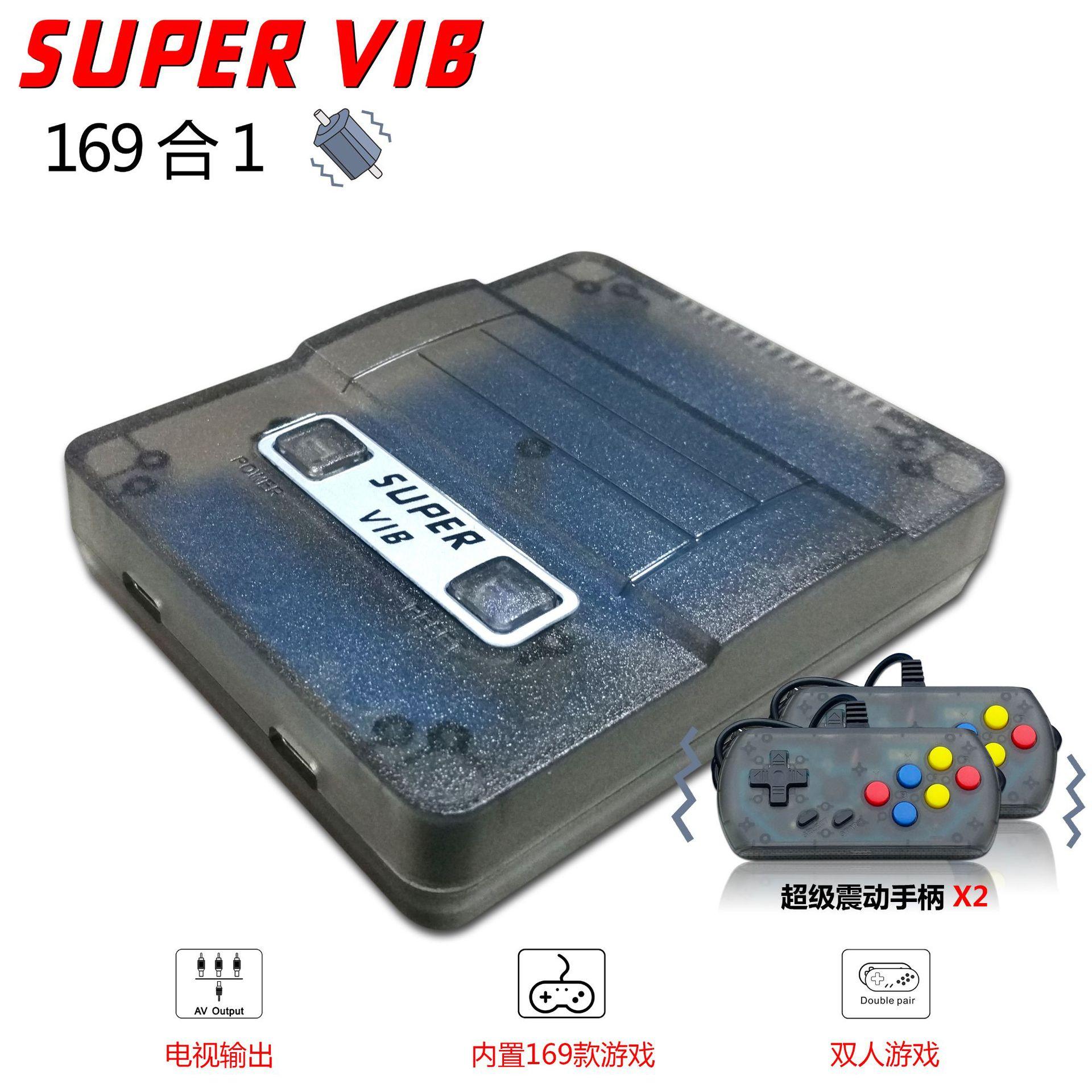 Consola de juegos de TV Super VIB 2019, consola de Video Retro de 8 bits con 169 juegos integrados para jugadores de juegos portátiles, Gamepad de doble vibración