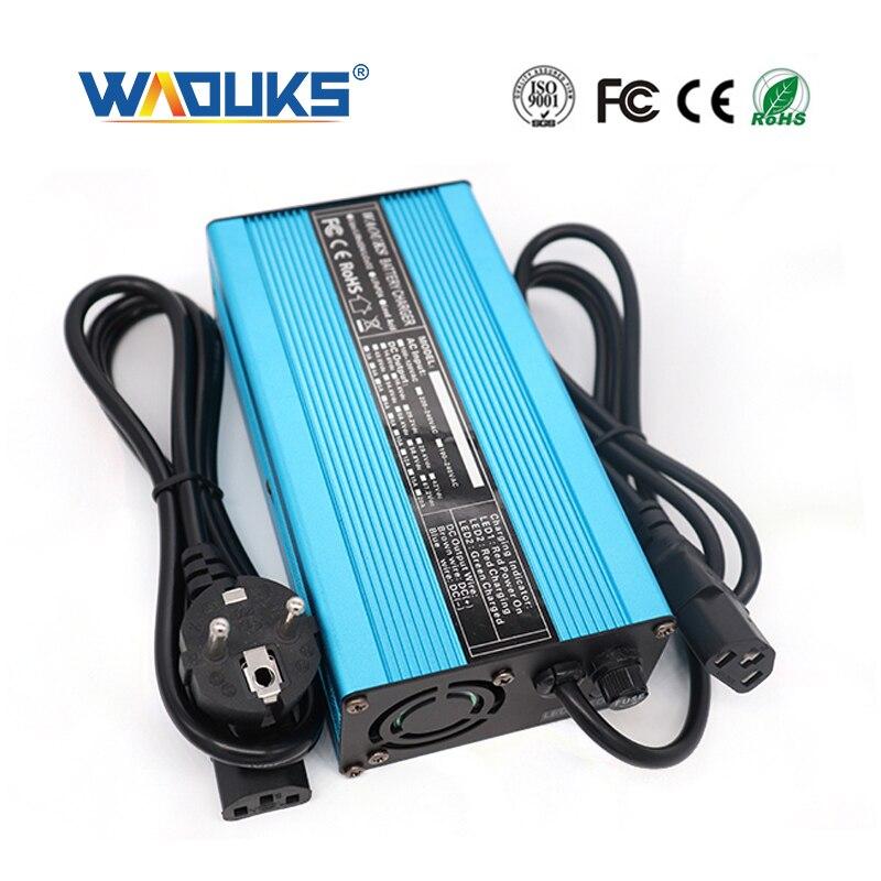 36,5 V 5A LiFePO4 cargador de batería para 10S 32V LiFePO4 cargador inteligente de amplio voltaje