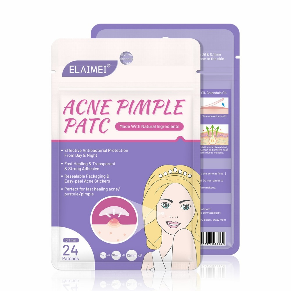 24pcs Treatment Acne Stickers Patch Pimple Remover Patch Skin Acne Concealer Face Makeup Tools