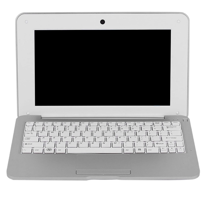 HD Portable 10.1Inch Quad Core Android System Without Optical Drive Mini Silver Gray Laptop Netbook(