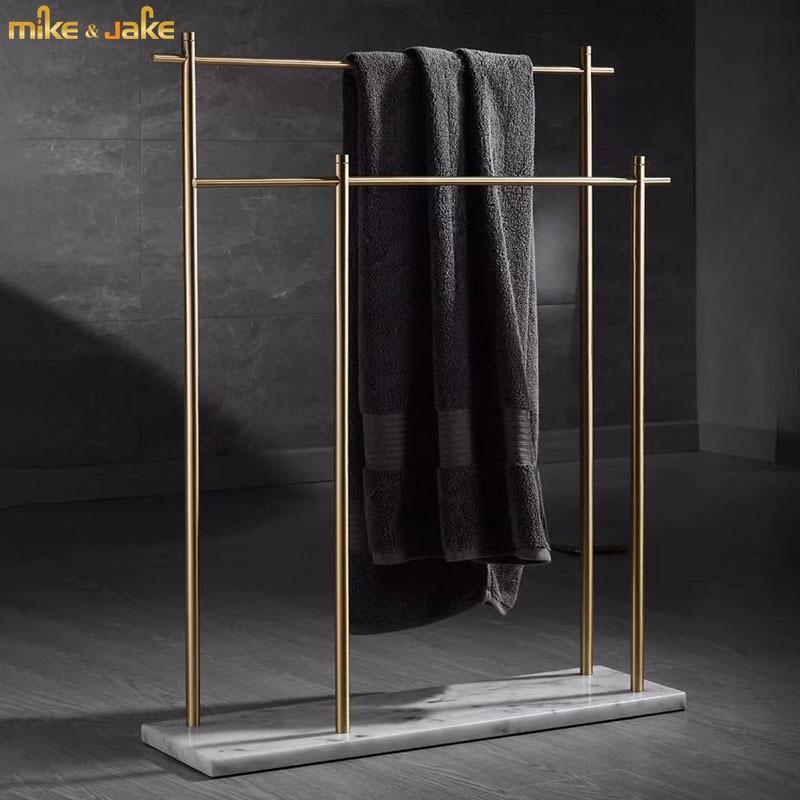 الذهب فرشاة مع الرخام الطبيعي الطابق رف مناشف الحمام الطابق منشفة رف الطابق حامل نمط الطابق منشفة رف تخزين الرف