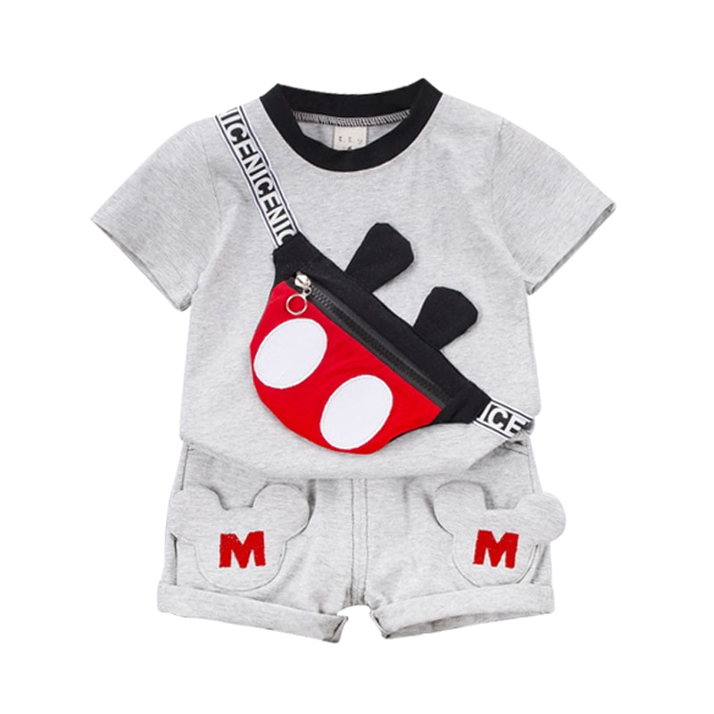 New Summer Baby Clothes Suit Children Fashion Boys Girls Cartoon T-Shirt Shorts 2Pcs/set Toddler Casual Clothing Kids Tracksuits